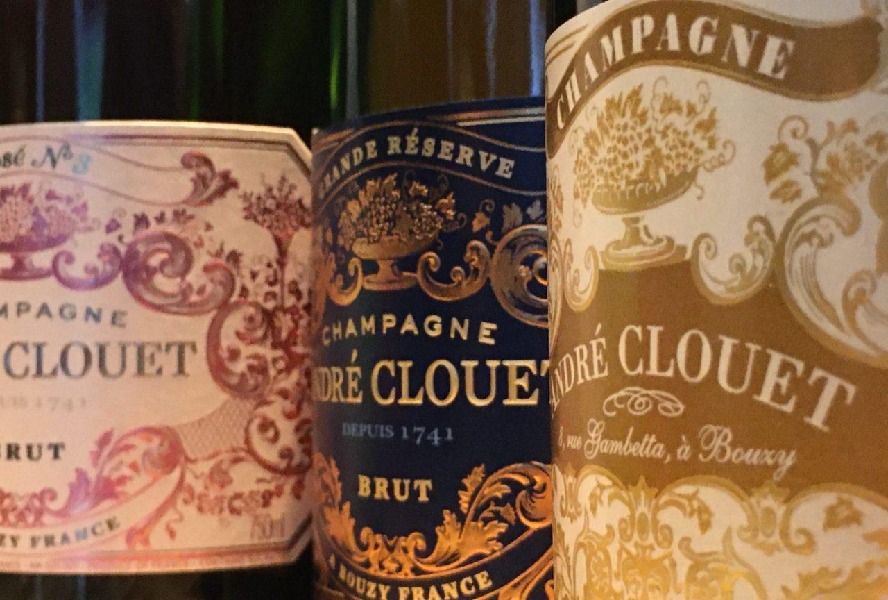 Drei Flaschen Champagner von Andre Clouet